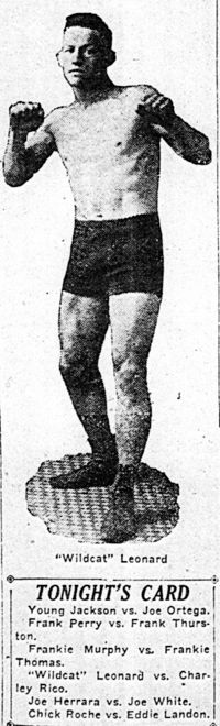 Wildcat Leonard boxer