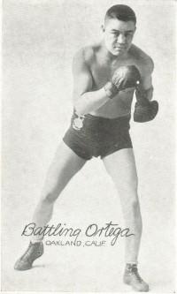 Battling Ortega boxer