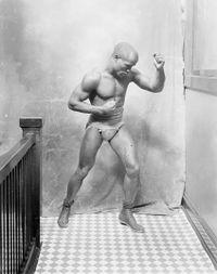 Young Peter Jackson boxer