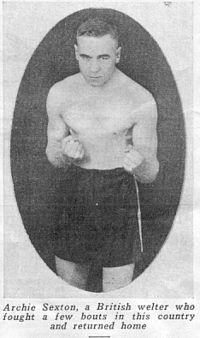Archie Sexton boxer