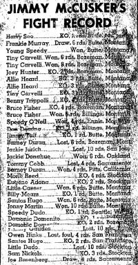 Jimmy (Babe) McCusker boxer