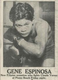 Gene Espinosa boxer